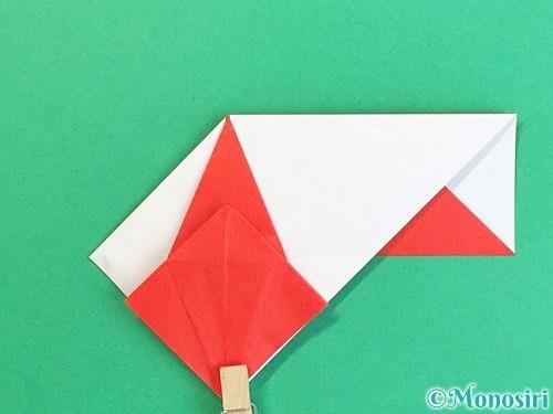 折り紙で鶴の箸袋の折り方手順50