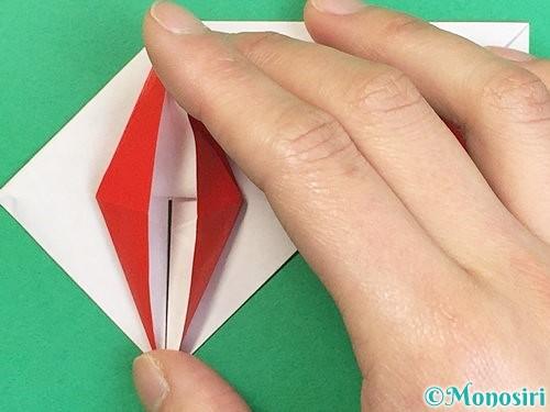 折り紙で鶴の箸袋の折り方手順54