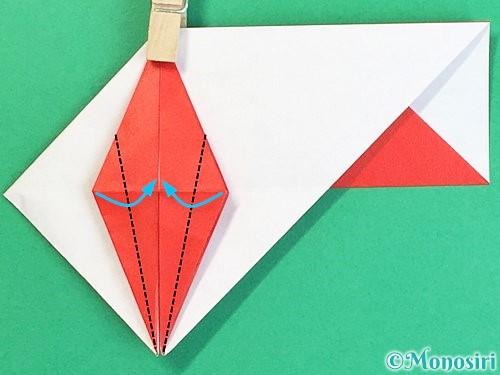 折り紙で鶴の箸袋の折り方手順56