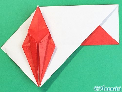 折り紙で鶴の箸袋の折り方手順57