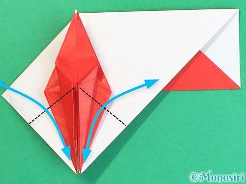 折り紙で鶴の箸袋の折り方手順58