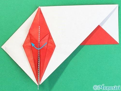 折り紙で鶴の箸袋の折り方手順60