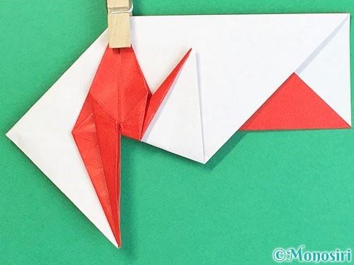 折り紙で鶴の箸袋の折り方手順66