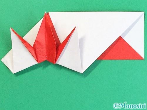 折り紙で鶴の箸袋の折り方手順67