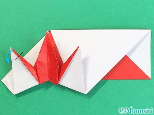 折り紙で鶴の箸袋の折り方手順68