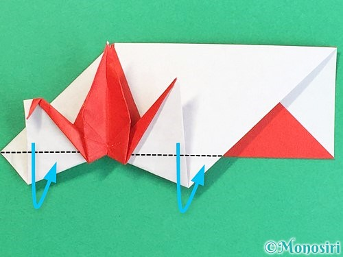 折り紙で鶴の箸袋の折り方手順70