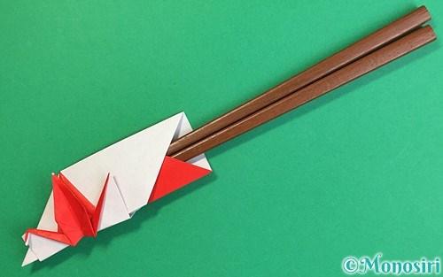 折り紙で折った鶴の箸袋