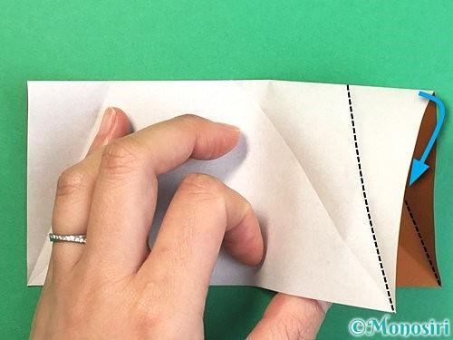 折り紙でトナカイの折り方手順34