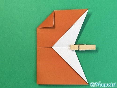 折り紙でトナカイの折り方手順43