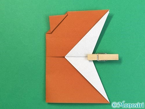 折り紙でトナカイの折り方手順45