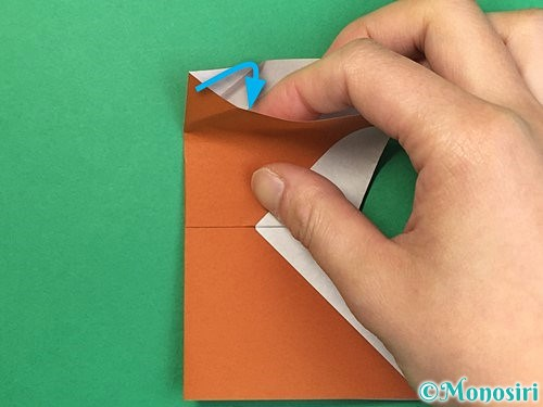 折り紙でトナカイの折り方手順49