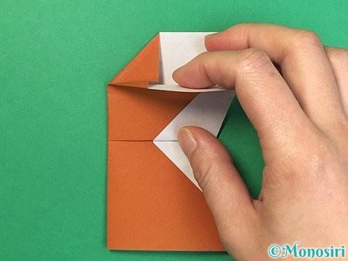 折り紙でトナカイの折り方手順48