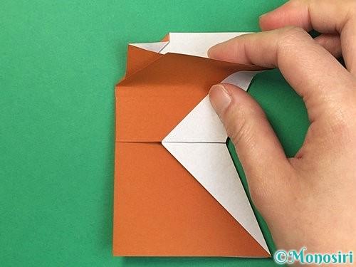 折り紙でトナカイの折り方手順52