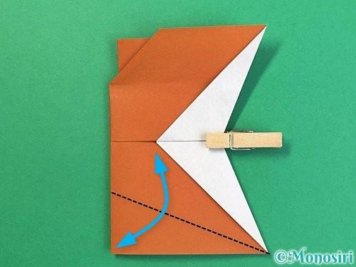 折り紙でトナカイの折り方手順54
