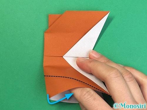 折り紙でトナカイの折り方手順56