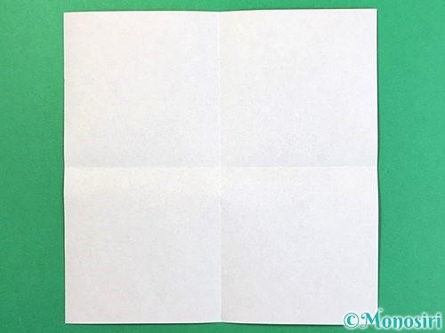 折り紙でトナカイの折り方手順2
