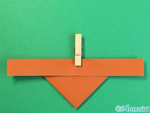 折り紙でトナカイの折り方手順14