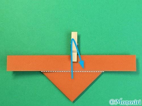 折り紙でトナカイの折り方手順15