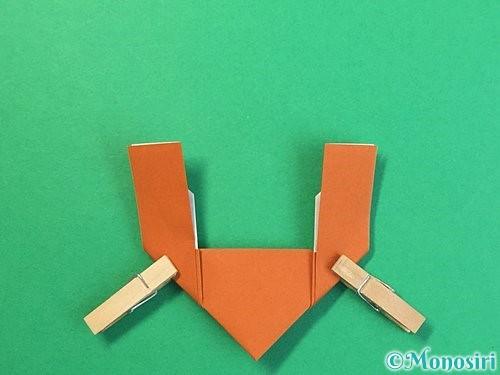 折り紙でトナカイの折り方手順18