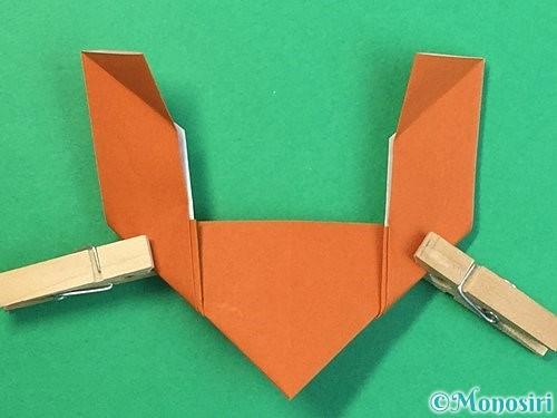 折り紙でトナカイの折り方手順20