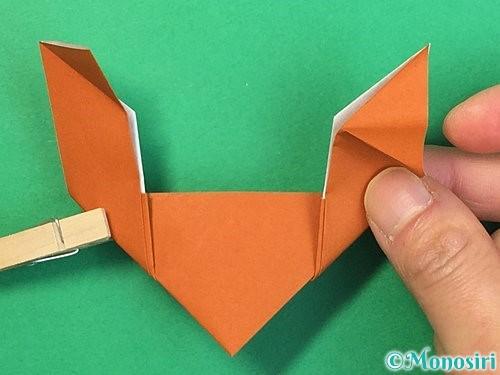 折り紙でトナカイの折り方手順22