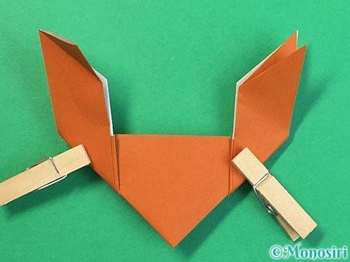 折り紙でトナカイの折り方手順23