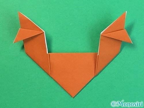 折り紙でトナカイの折り方手順26