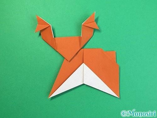 折り紙でトナカイの折り方手順61