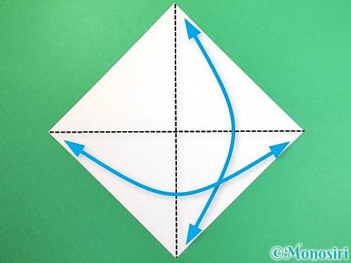 折り紙でソリの折り方手順1