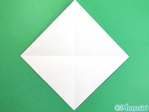 折り紙でソリの折り方手順2