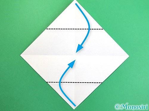 折り紙でソリの折り方手順3