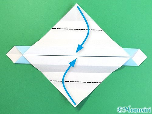 折り紙でソリの折り方手順13