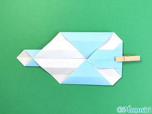 折り紙でソリの折り方手順16