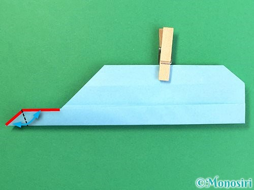 折り紙でソリの折り方手順19