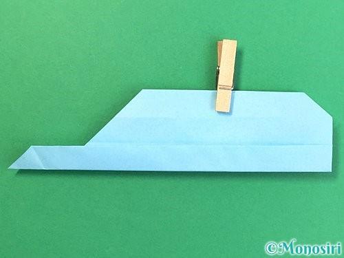 折り紙でソリの折り方手順20