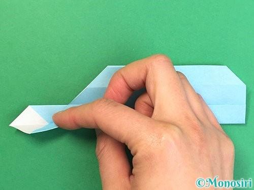 折り紙でソリの折り方手順21