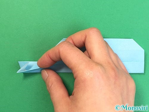 折り紙でソリの折り方手順23