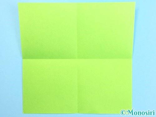 折り紙でクリスマスリースの作り方手順2