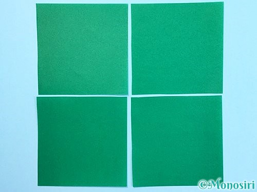 折り紙でクリスマスリースの作り方手順4