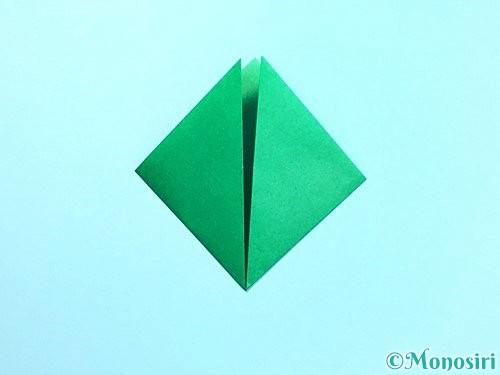 折り紙でクリスマスリースの作り方手順8