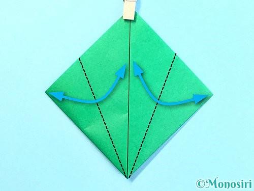折り紙でクリスマスリースの作り方手順9
