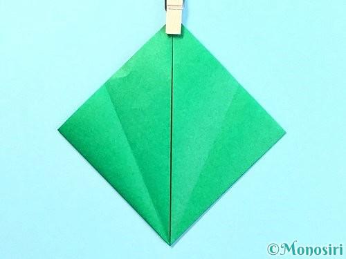 折り紙でクリスマスリースの作り方手順10