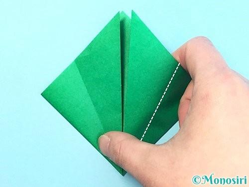 折り紙でクリスマスリースの作り方手順11