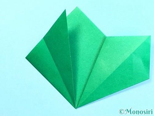 折り紙でクリスマスリースの作り方手順13