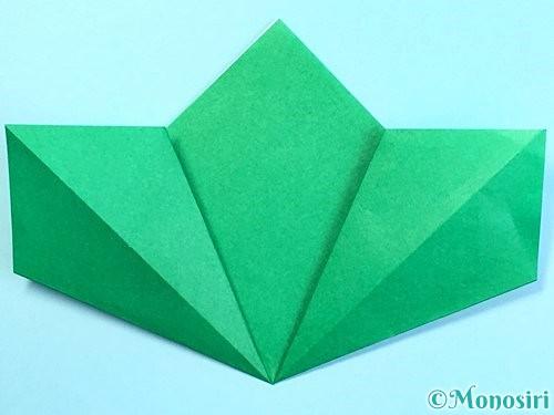 折り紙でクリスマスリースの作り方手順14