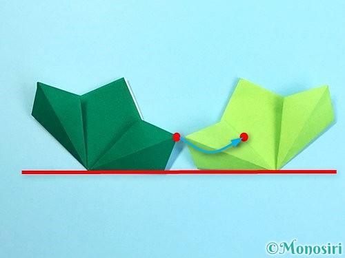 折り紙でクリスマスリースの作り方手順16