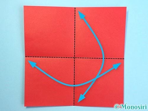 折り紙でクリスマスリースの作り方手順22