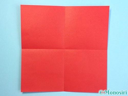 折り紙でクリスマスリースの作り方手順23