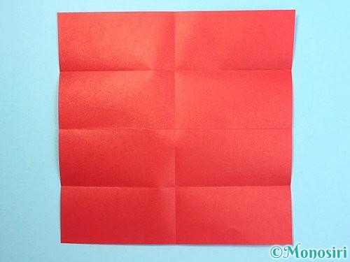 折り紙でクリスマスリースの作り方手順25