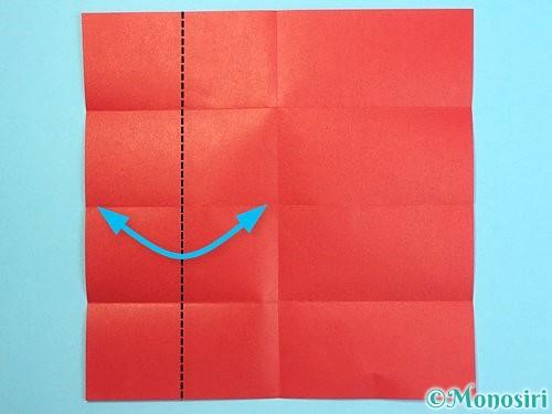 折り紙でクリスマスリースの作り方手順26
